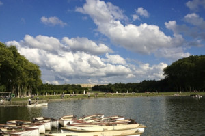 Lake outside versaille